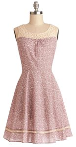 Modcloth short dress Pink & Ivory on Tradesy