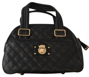 Marc Jacobs Quilted Bowler Ursula Satchel in Black