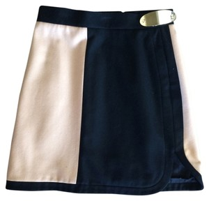 M Missoni Italian Wool Skirt Black and Beige