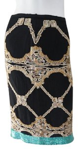 Hoss Homeless Beaded Anthropology Straight Evening Skirt Black