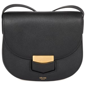 Céline Trotteur Small Grained Shoulder Bag