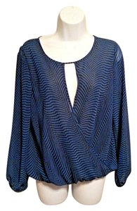 Vince Camuto Top Royal Blue, Black