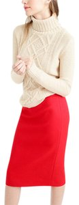 J.Crew Office Work Corporate Pencil Skirt Poppy