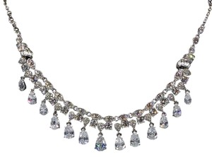 Carolee Crystal Teardrop Neklace