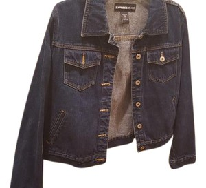 Express Vintage Indigo Denim Womens Jean Jacket