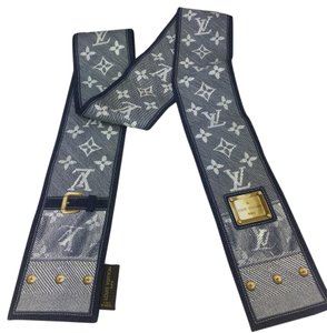 Louis Vuitton Denim Monogram Print Bandeau