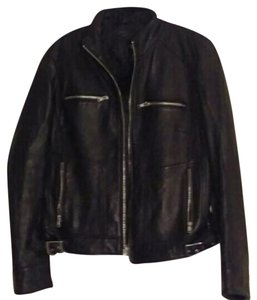 Mossimo Supply Co. Leather Leather Jacket