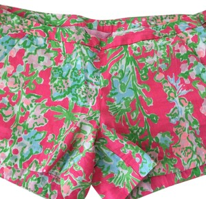Lilly Pulitzer Mini/Short Shorts Flamingo Pink Southern Charm