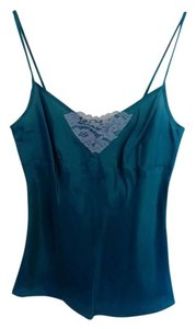 Nanette Lepore Silk Lace Trim Top Teal
