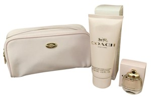 Coach 3 piece set Coach Mini Eau de Parfum Body Lotion Cosmetic Make Up Bag
