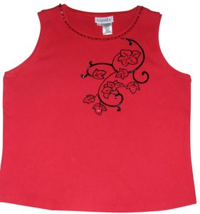 Vanity Collection Sequins Beading Top Red