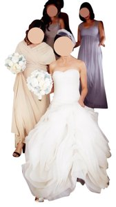 White By Vera Wang White By Vera Wang Vw351011 Organza Trumpet Wedding Dress Wedding Dress