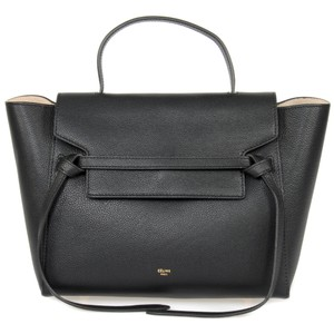 Céline Celine Belt Medium Tote in Black Grained