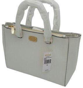 Kate Spade Michael Kors Kellen Saffiano Leather Satchel in OPTIC WHITE