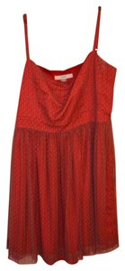 Fossil short dress red Classic Structured Retro Semi-formal on Tradesy