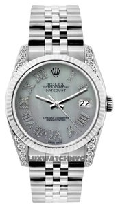 Other 36MM ROLEX DATEJUST S/S WATCH WITH ROLEX BOX & APPRAISAL