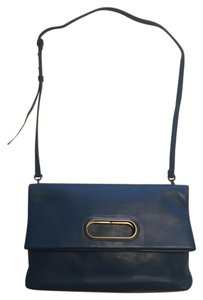 Skagen Denmark Leather Clutch Crossbody Tote in blue