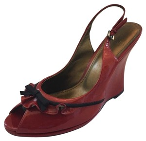 Linea Paolo red Wedges