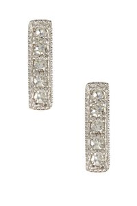 Meira T Meira T 14K White Gold Bar Diamond Earrings - 0.03 ctw