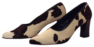 Donald J. Pliner Deep chocolate brown and creme. Pumps