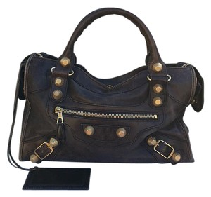 Balenciaga Satchel in Brown, Gold
