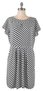 J.Crew short dress Black and White Stripe Keyhole on Tradesy