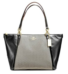 Coach Tote in Black, White