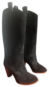 Marc by Marc Jacobs Suede Western Black Suede Boots