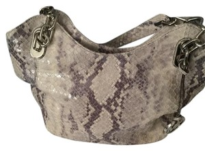 Michael Kors Grey Leather Hobo Bag