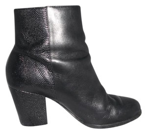 MICHAEL Michael Kors Leather Snakeskin Print Classic Black Boots