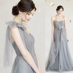 Jenny Yoo Sterling Grey Annabelle Convertible Tulle Column Dress