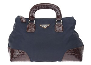 Prada Satchel in Navy