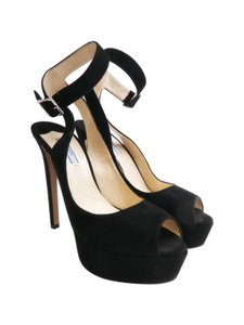 Prada Suede Black Platforms