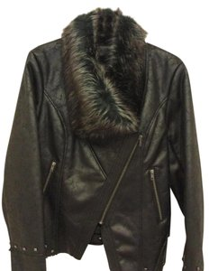Wilson Leather Msrp $600 Suede Fully Lined Faux Fur Leather Jacket
