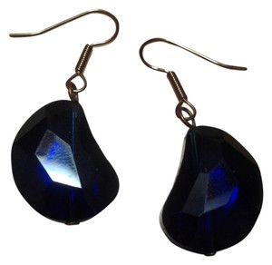 Handmade NEW Handmade Iridescent BLUE FACETED Glas Beaded EARRINGS Buy3Get1FREE Sale!