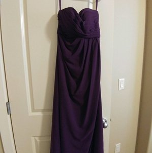 Mori Lee Mulberry Plum Chiffon Dress