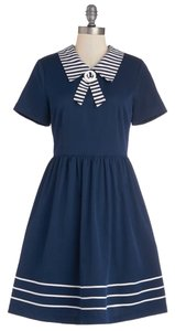 Modcloth short dress Blue Sailor Nautical Vintage Retro on Tradesy