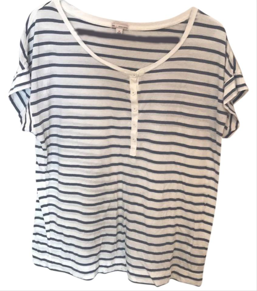 Gap striped tee t shirt grey cream stripes 31 off retail for Grey striped t shirt