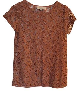 Ann Taylor LOFT Top Reddish Brown
