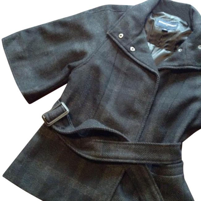 Item - Black and Grey Poncho/Cape Size 4 (S)