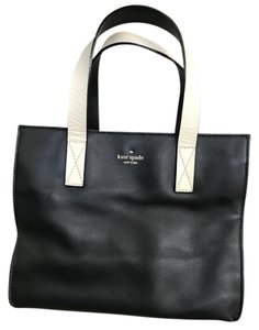 Kate Spade Leather Tote in Black, Cream
