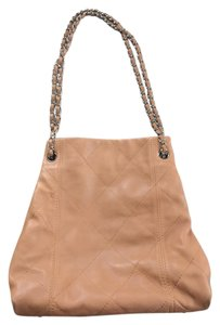 Chanel Vintage Lambskin Leather Tote in Dark Beige