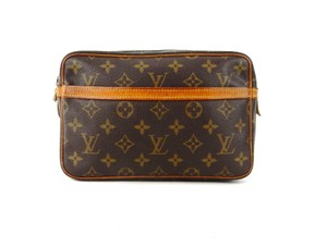 Louis Vuitton Compiegne 23 Monogram Canvas Leather Makeup Travel Dopp Bag