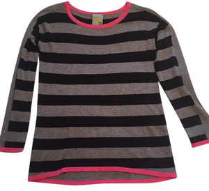 C&C California Stripe Neon Cashmere Tunic Sweater