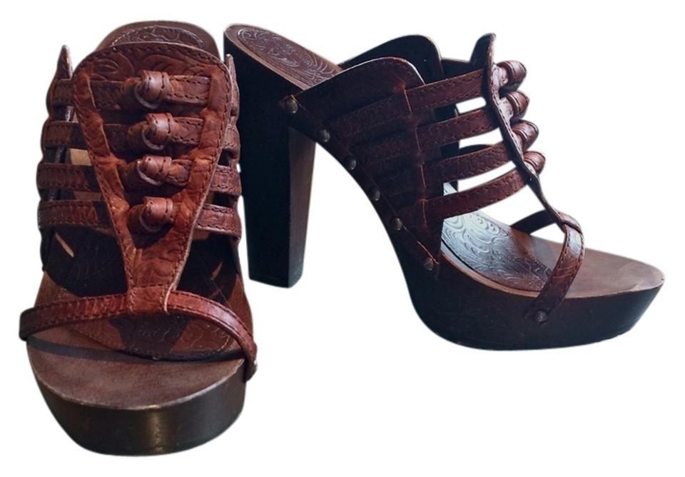 Dior Brown Brown Dior Italian Summer Leather Sandals fc9842