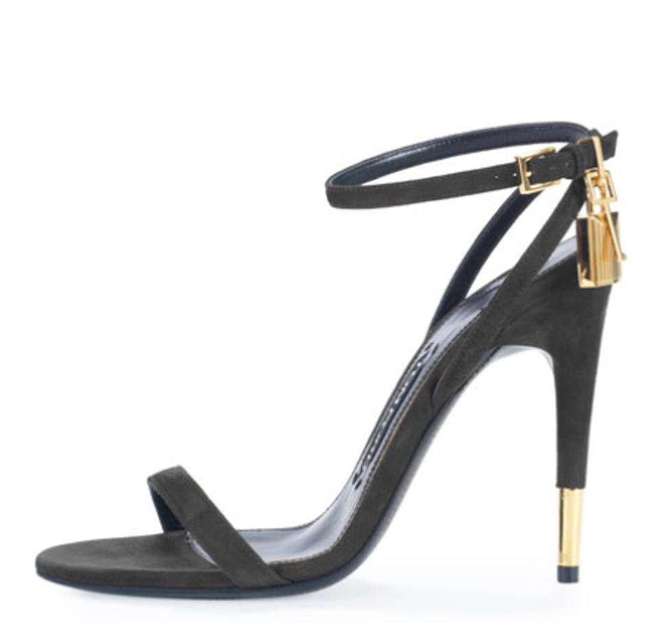 Tom Ford Sandals Black Suede Ankle-lock 85mm Sandals Ford f927bb
