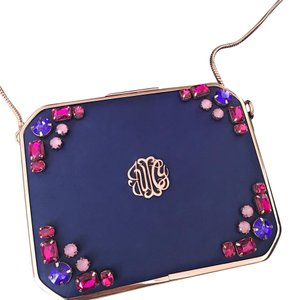 Juicy Couture royal blue, pink, purple, rose gold Clutch