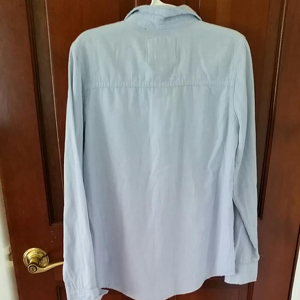 Forever 21 light blue button down shirt on tradesy for Light blue button down shirt
