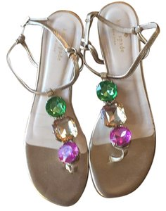 Kate Spade gold, multicolor Sandals