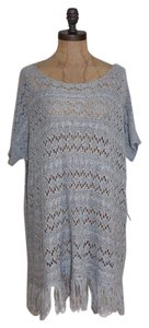 BCBGMAXAZRIA Open Knit Fringe Hem Summer Oversized Tunic
